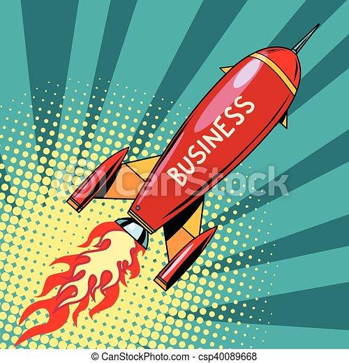 business startup rocket - csp40089668
