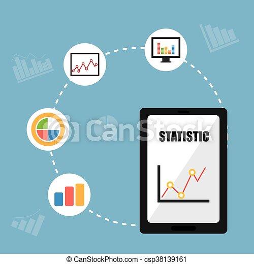 Business statistics design. - csp38139161