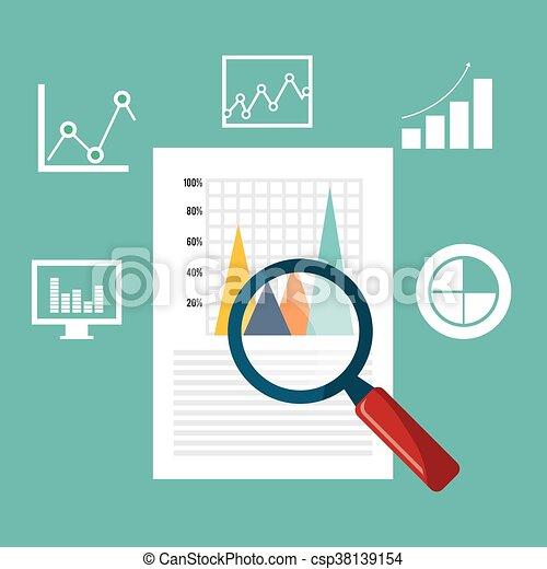 Business statistics design. - csp38139154