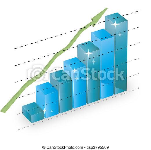 business statistics graph diagram w - csp3795509