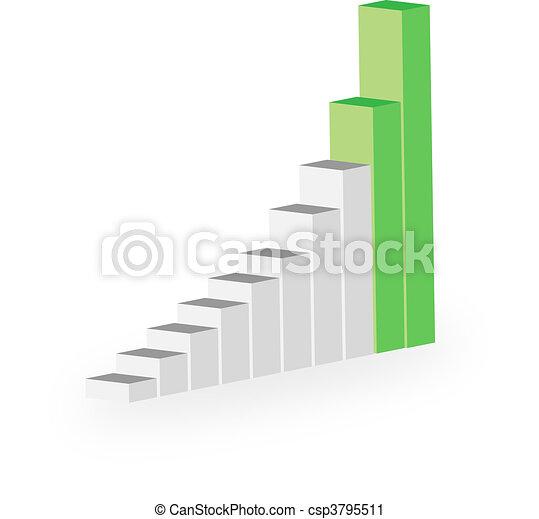 business statistics graph diagram w - csp3795511