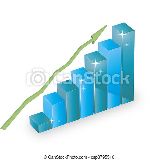 business statistics graph diagram w - csp3795510