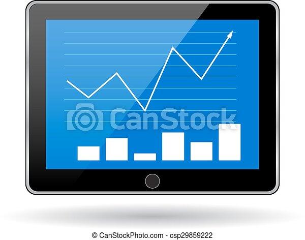 Business statistics graph.  - csp29859222