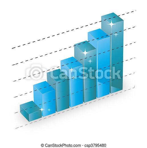 business statistics graph - csp3795480