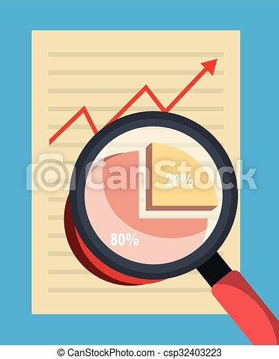Business statistics graphic design - csp32403223