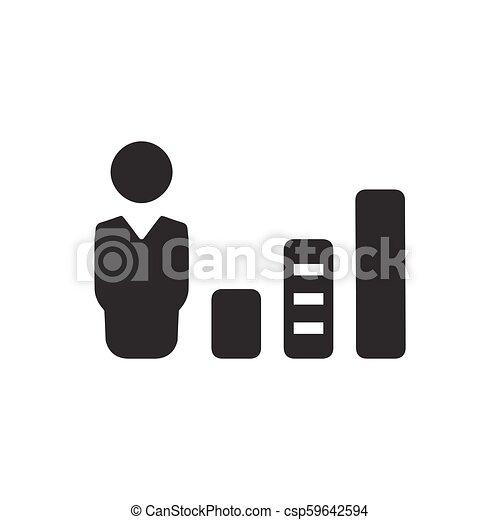 Business Statistics Icon - csp59642594