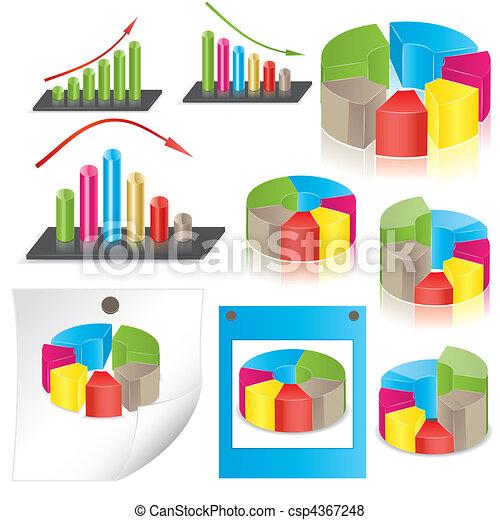business statistics. vector  - csp4367248