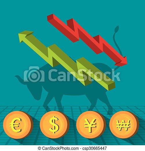 Business stock exchange - csp30665447