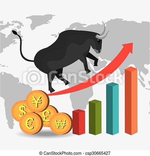 Business stock exchange - csp30665427