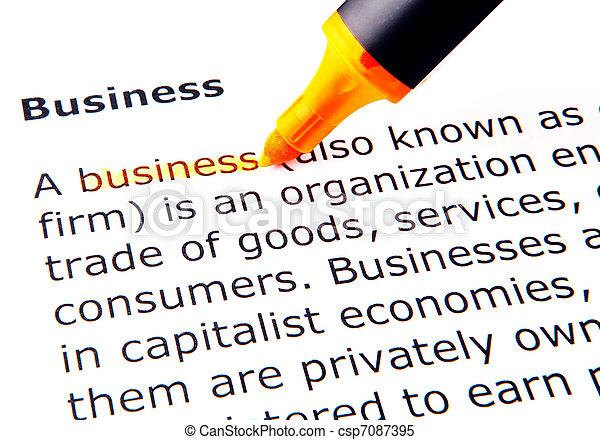 Business - csp7087395