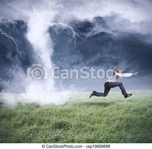 Business storm - csp19669898