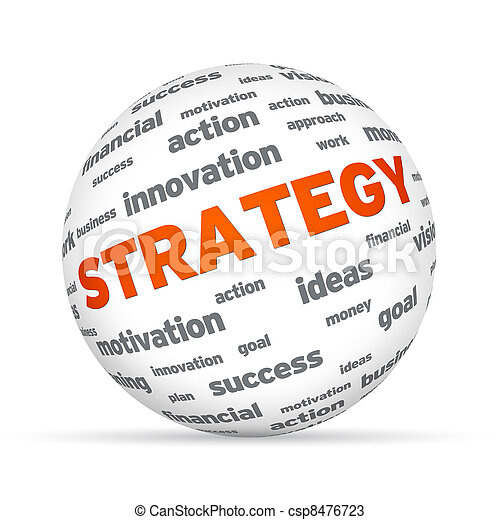 Business Strategy Sphere - csp8476723