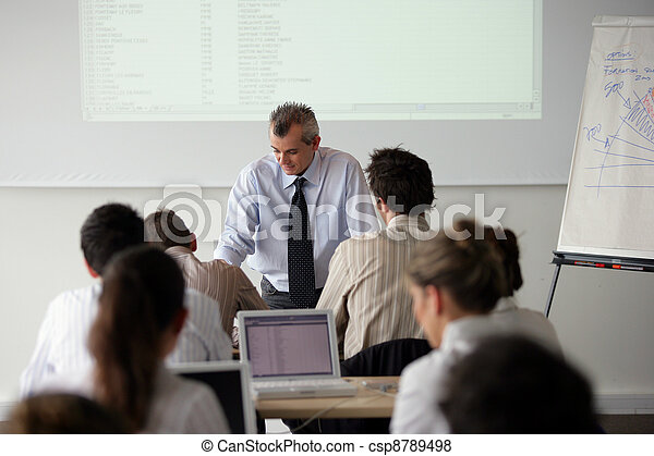 Business students - csp8789498