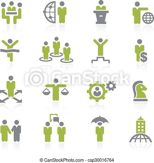 Business Success Icons. Natura - csp30016764
