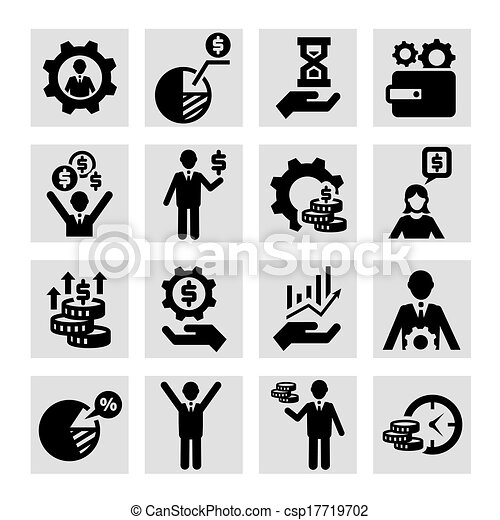 business success icons - csp17719702