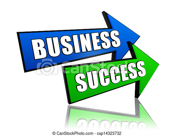 business success in arrows - csp14323732