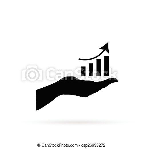 business success in hand vector - csp26933272