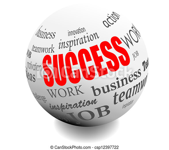 business success motivation ball - csp12397722