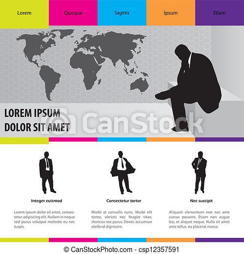 Business suit selling website - csp12357591