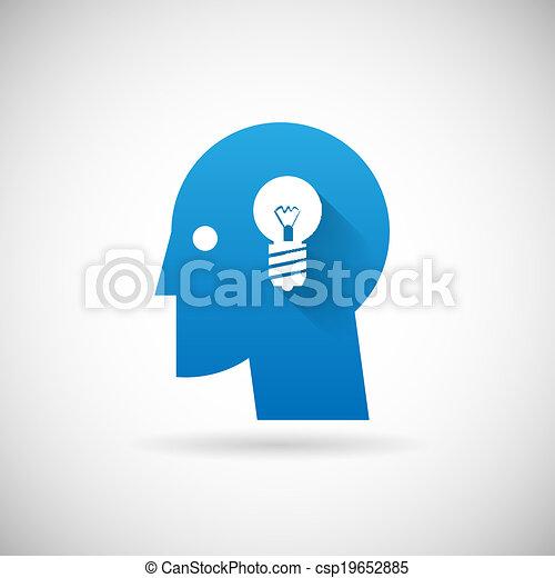 business, symbole, créativité, idée, illustration, vecteur, conception, gabarit, icône - csp19652885