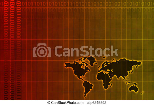 Business System Abstract Background - csp6245592
