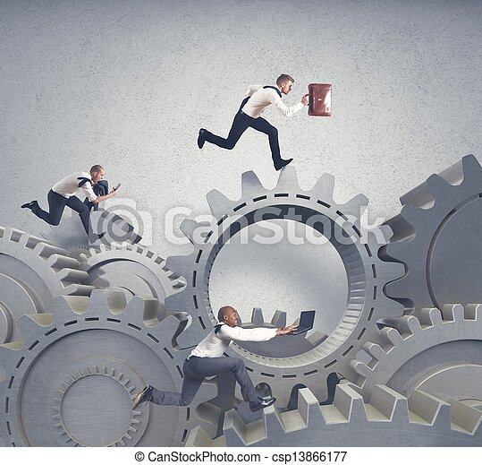 Business system and competition concept - csp13866177