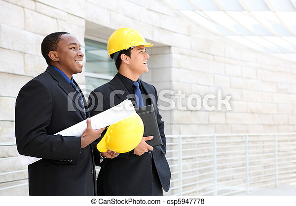 Business Team at Office Construction Site - csp5947778