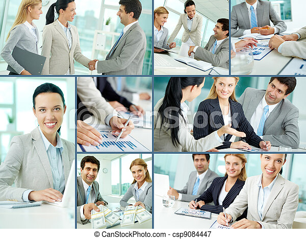 Business team at work - csp9084447