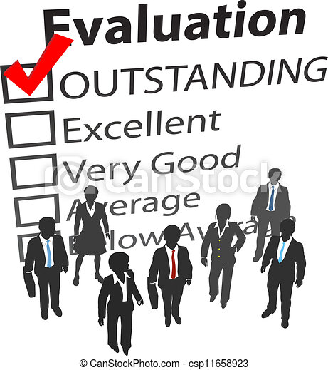 Business team best human resources evaluation - csp11658923