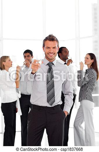 Business Team Celebrating Success - csp1837668
