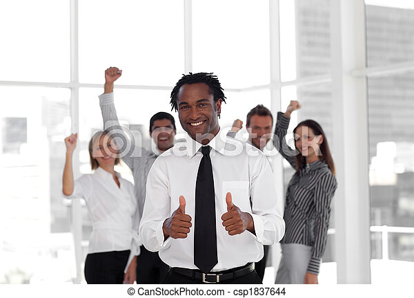 Business Team Celebrating success - csp1837644