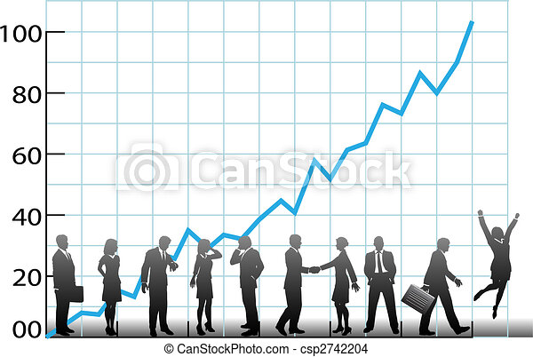 Business team chart company growth - csp2742204