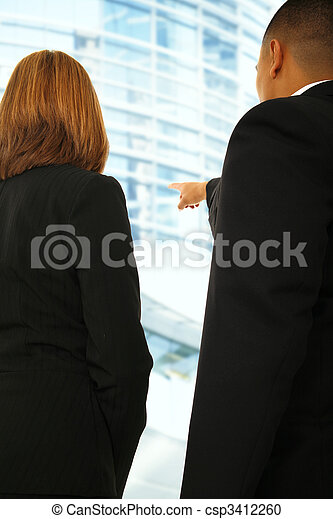 Business Team Discussing In Building Environment - csp3412260