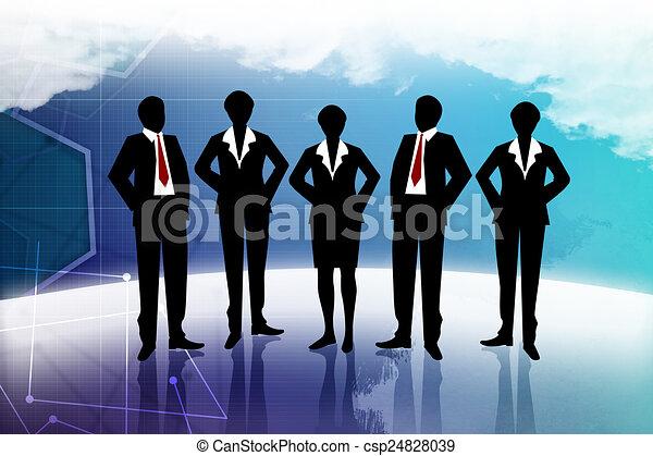 Business team - csp24828039