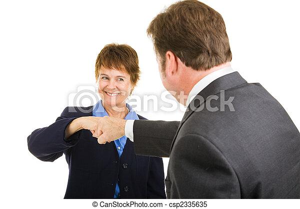 Business Team - Fist Bump - csp2335635