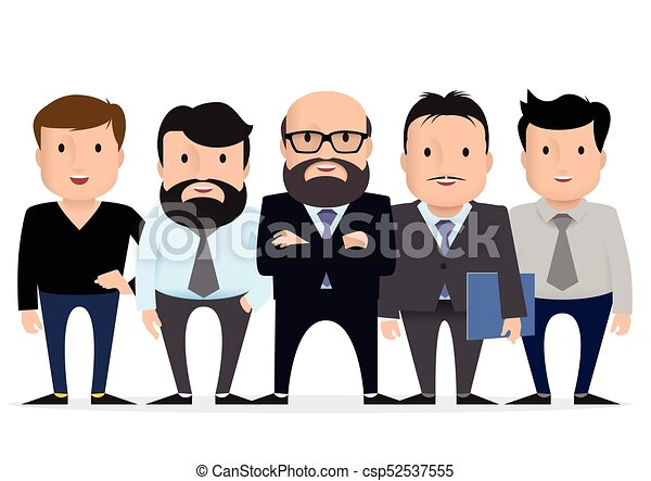 business team group businessman character vector clipart rh canstockphoto com happy businessman clipart happy businessman clipart