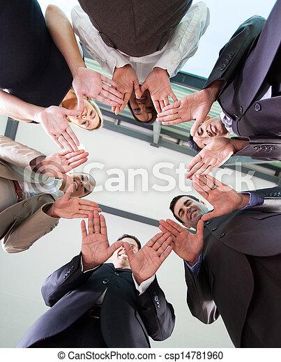 business team hands together - csp14781960