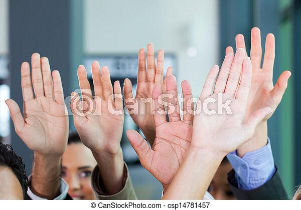 business team hands together - csp14781457