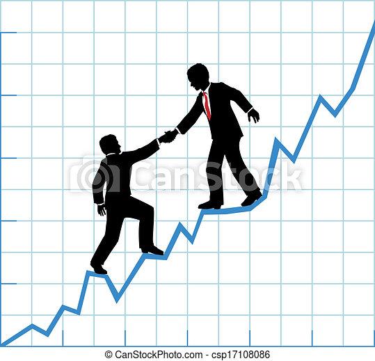 Business team help chart company growth - csp17108086
