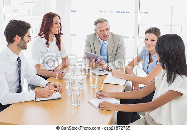 Business team in a meeting - csp21872765
