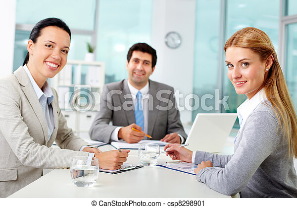 Business team in office - csp8298901