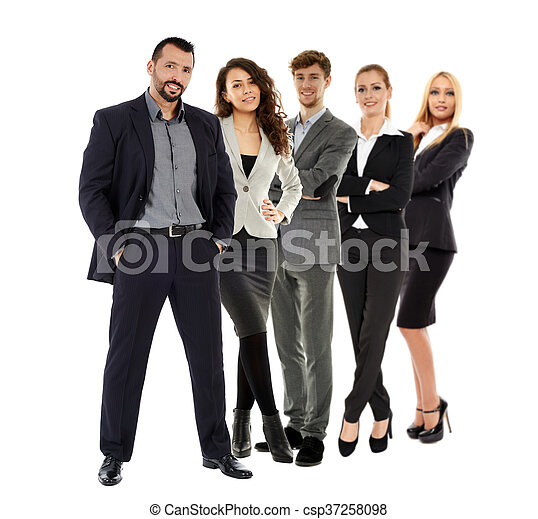 Business team isolated on white - csp37258098