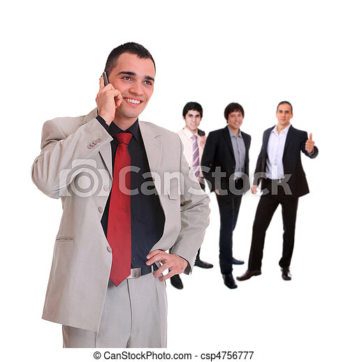 Business team isolated - csp4756777