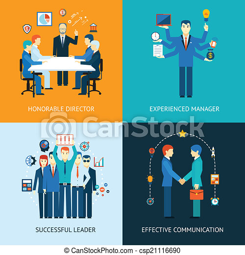 Business team leader banners - csp21116690