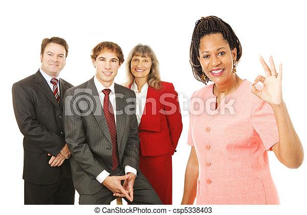 Business Team Leader Okay - csp5338403