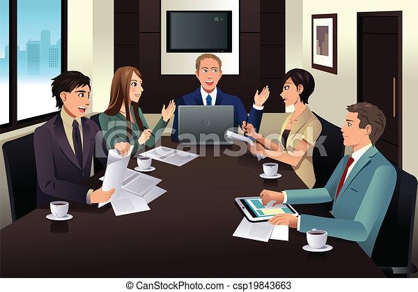 Business team meeting in a modern office - csp19843663
