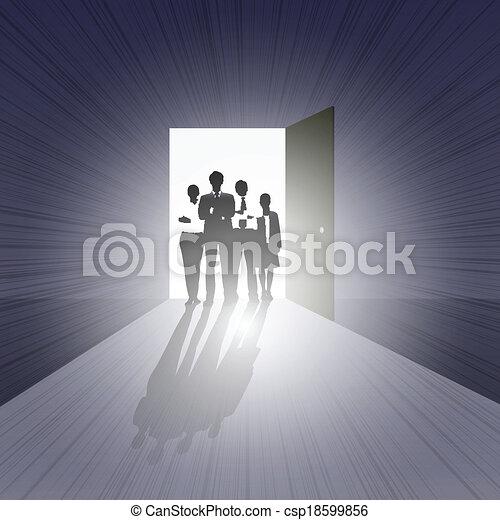 Business Team on Open Door - csp18599856