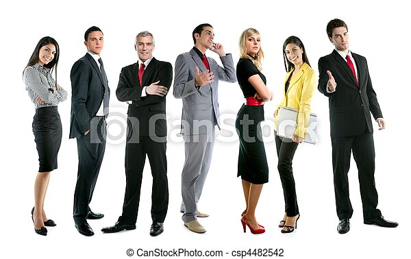 Business team people group crowd full length - csp4482542