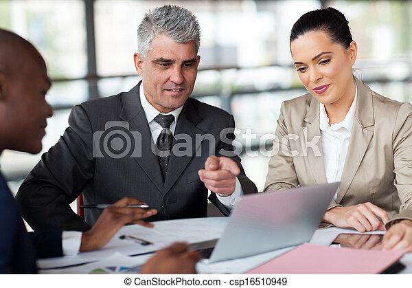 business team planning work - csp16510949