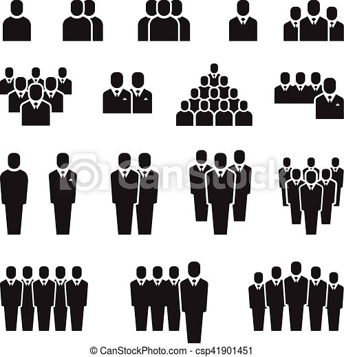 business team silhouette people employee group crowd clipart rh canstockphoto com crowd clipart silhouette crowd clipart png
